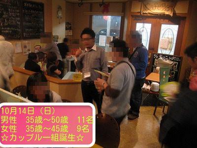 アラフォー中心の恋活カップリングパーティー 10月14日(日)のアイキャッチ画像