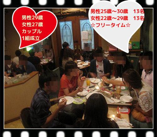 アラサー中心の恋活カップリングパーティー 9月23日(日)のアイキャッチ画像