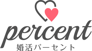 大阪の婚活・恋活パーティーなら【婚活パーセント】のロゴマーク